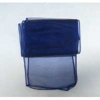 Navy Blue Organza Chair Bows - PACK of 10