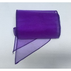 Purple Organza Chair Bows - PACK of 10