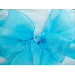 Turquoise Organza Chair Bows - PACK of 10