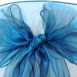 Teal Organza Chair Bows - PACK of 10