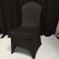 Premium Quality Black Spandex Chair Cover Sample