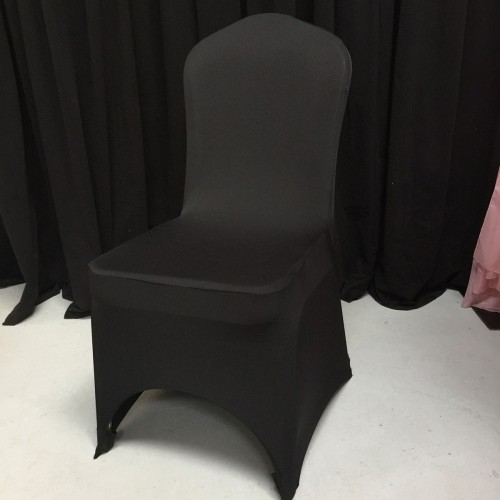 Premium Quality Black Spandex Chair Cover Sample