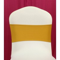 Gold Spandex Chair Band - Pack of 10