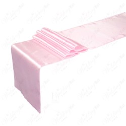 "Baby Pink Satin Table Runners (14""x108"")"