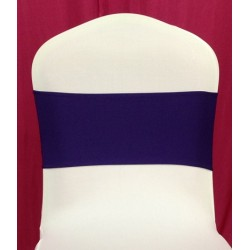 Purple Spandex Chair Band - Pack of 10