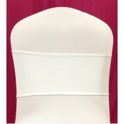 White Spandex Chair Band - Pack of 10