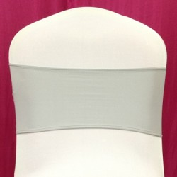 Silver Spandex Chair Band - Pack of 10