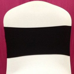Black Spandex Chair Band - Pack of 10