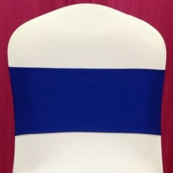 Royal Blue Spandex Chair Band - Pack of 10