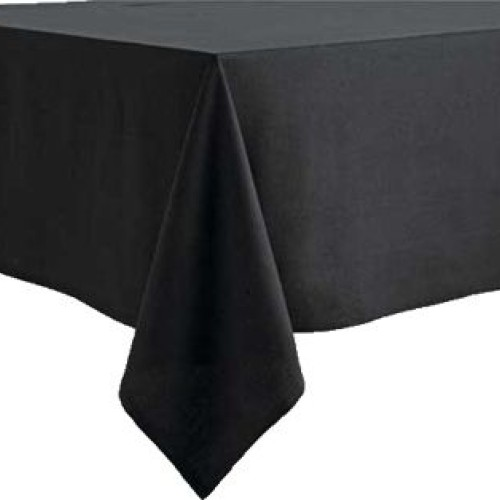 "90""x90""  Black Polyester Table Cloths"