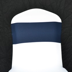 Navy Blue Spandex Chair Band - Pack of 10