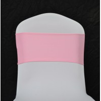 Baby Pink Spandex Chair Bands - Pack of 10