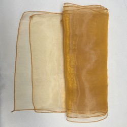 "Gold Organza Table Runners (14""x108"")"