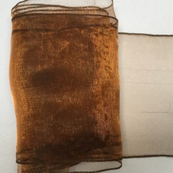 """Brown Organza Table Runners (14""""x108"""")"""