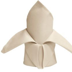 Ivory Polyester Napkins - Pack of 10