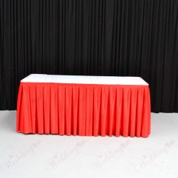 8M Red Top Table Skirt