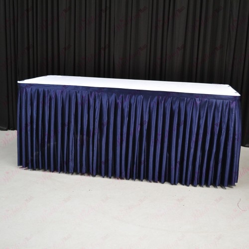 8M Navy Blue Top Table Skirt