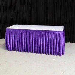 8m Purple Top Table Skirt
