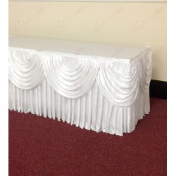 White Top Table Skirting Package