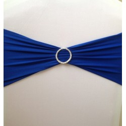 Royal Blue Spandex Chair Band with Buckle - Pack of 10