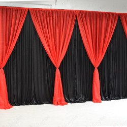 4 Panels Red Grecian Backdrop Overlay