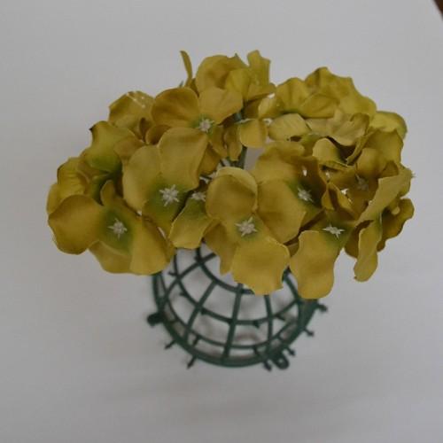 Gold Hydrangea Flower Heads - Pack of 10