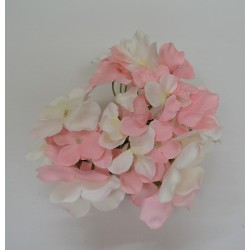 Pink and White Hydrangea Flower Heads - Pack of 10