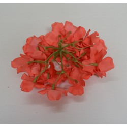 Coral Hydrangea Flower Heads - Pack of 10