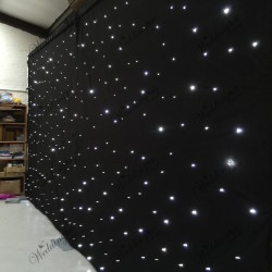 6Mx3M Black LED Starlight Wedding Backdrop with Heavy Duty Stands