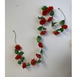 Small Rose Garland - Red