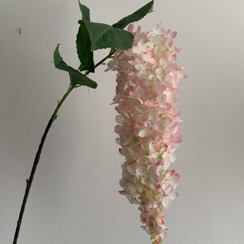 Artificial Hanging Wisteria Stem - Baby Pink