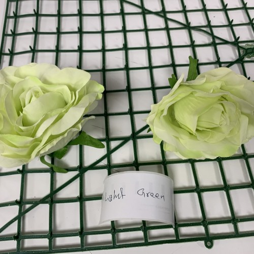Light Green Rose Heads - Pack of 10