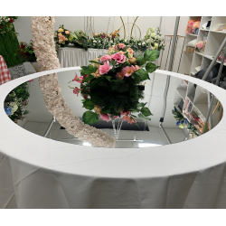 """60"""" Wedding Rounded Acrylic Mirror Table Top"""