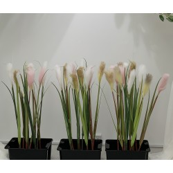 Artificial Real Touch Reed Grass Stem - White