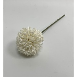 Artificial Chrysanthemum Mums Ball - White
