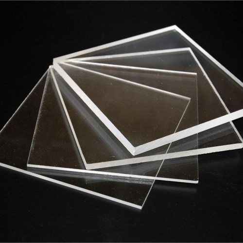 100cmx100cm Clear Acrylic Glass Panel - No Stand