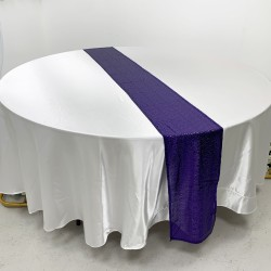 Purple Sequin Table Runners