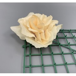 Artificial Peach French Rose Heads - Pack of 12