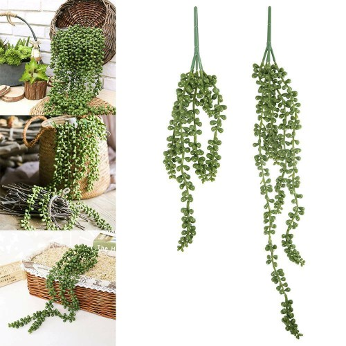 75cm Artificial Ivy Succulents Vine Fake String Of Pearls