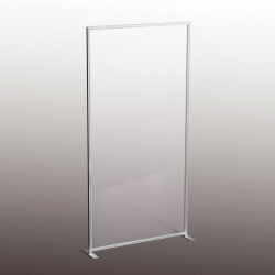 Floor Standing Sneeze Guard Screens for Gyms and Fitness Centres