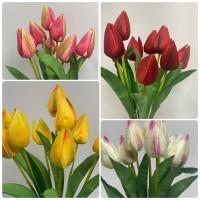 9 Heads Artificial Tulip Bouquet