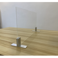 1000mm (w) x 800mm (h) Hanging Acrylic Sneeze Guard Screen with Aluminium Table Stands