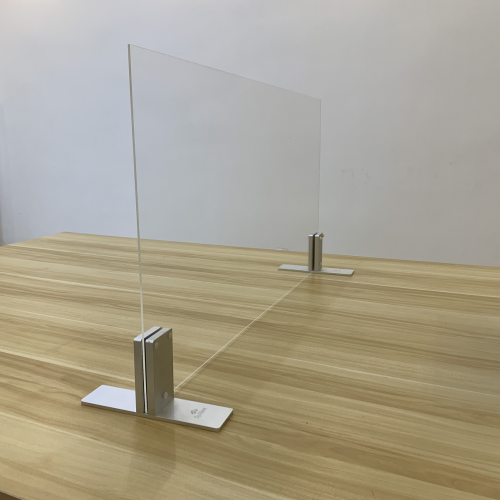 High Quality Social Distance Desk Screen with Aluminium Stand