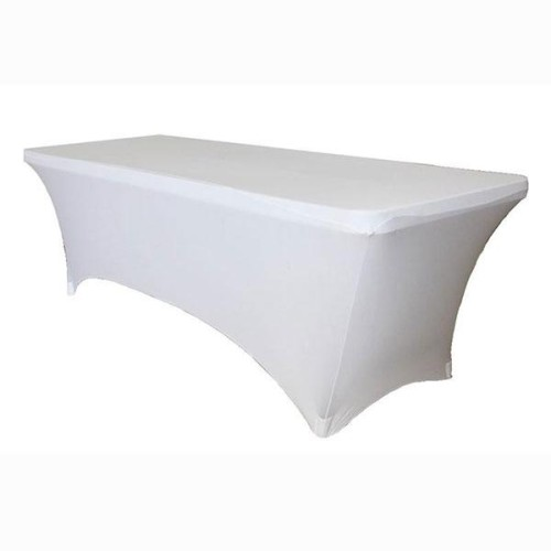 6ft White Spandex Table Covers