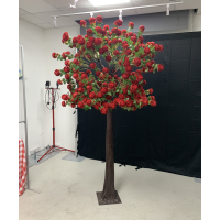 250cm Large Artificial Rose Tree - RED