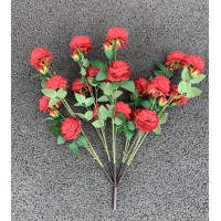 Artificial Rose Tree Spare Branch - RED