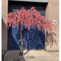 3.1m Artificial Weeping Cherry Blossom Canopy  Arch Tree - Dark Pink