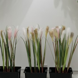 Artificial Real Touch Reed Grass Stem - IVORY