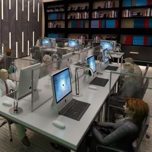 Call Centres, IT Desks Partitions