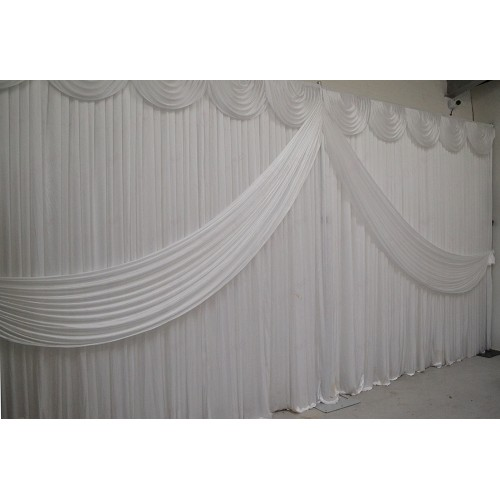 White Butterfly Backdrop Curtain